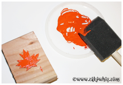fall themed cake with leaf stamps 9