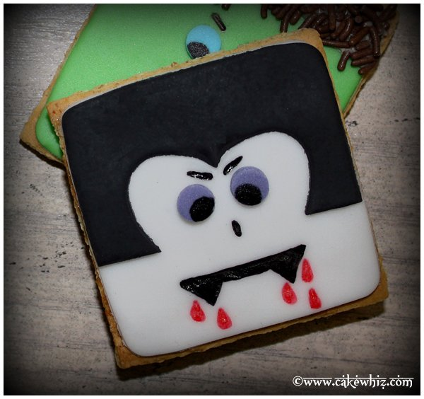 Quick and Easy Dracula Cookies or Vampire Cookies