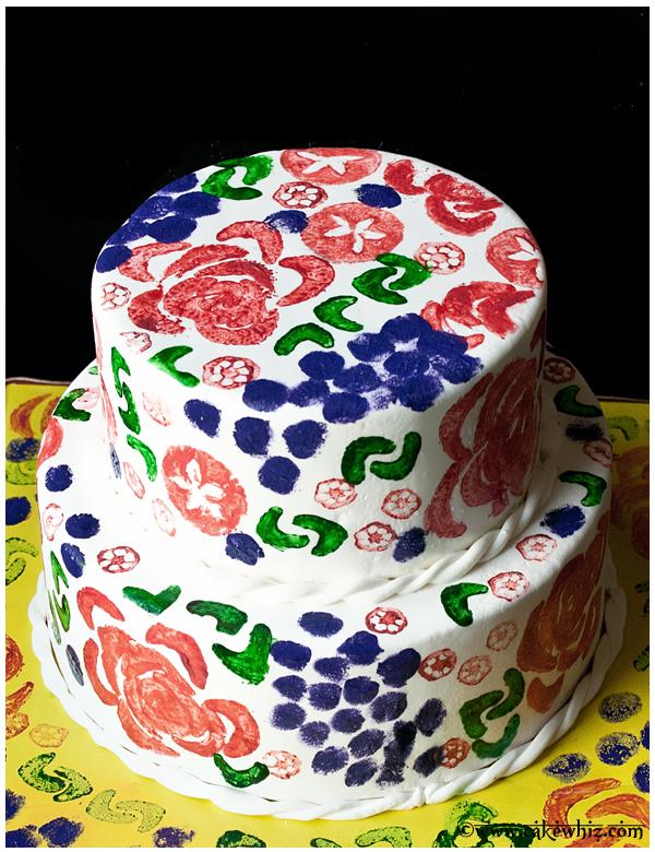 vegetable stamp cake 4