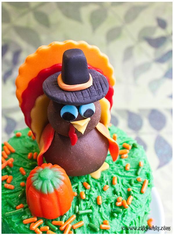 How to Make Turkey Topper - CakeWhiz  How to Make Tur...