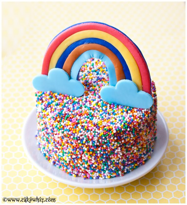 rainbow and sprinkle cake 2