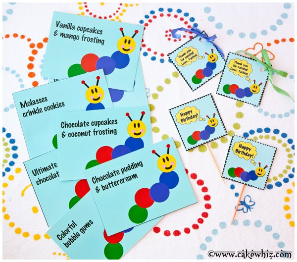 baby einstein caterpillar birthday party printables