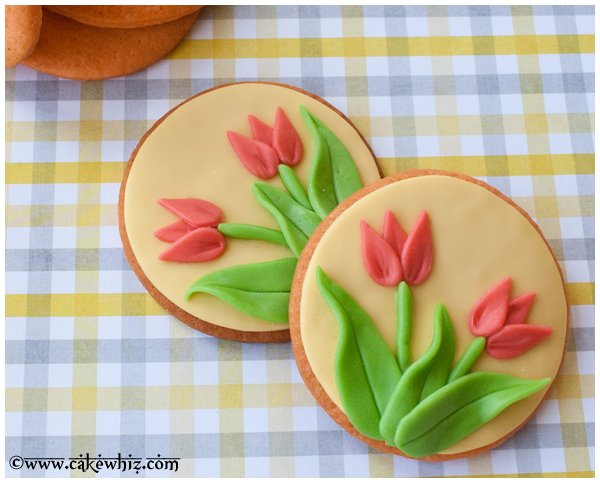 Tulip Sugar Cookies Overlapped On Each Other