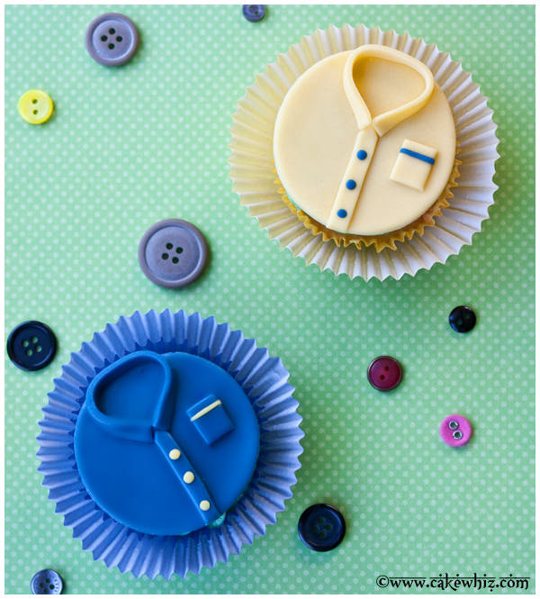 father's day shirt cupcakes 1
