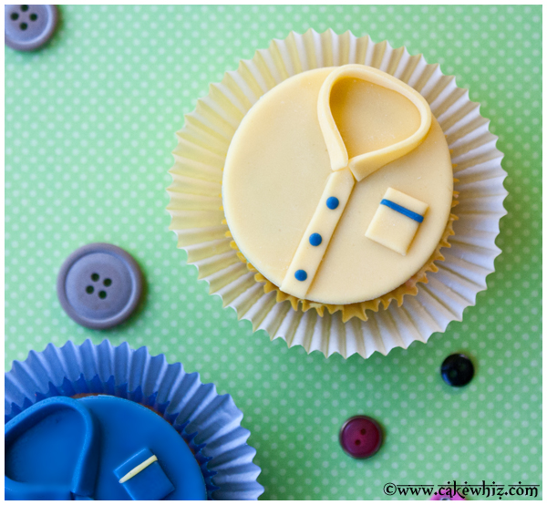 father's day shirt cupcakes 2