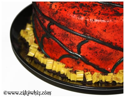 oreo spiders and twizzler spider web cake 12