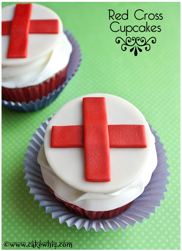 red cross cupcakes 1
