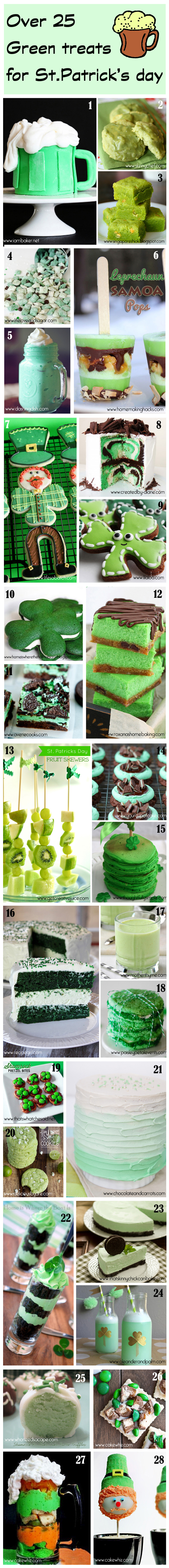 roundup of green treats for St.Patrick's day 10