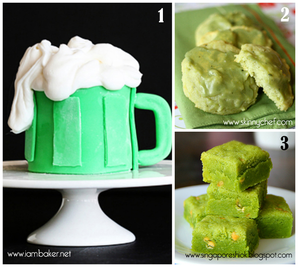 roundup of green treats for St.Paddy's day 1