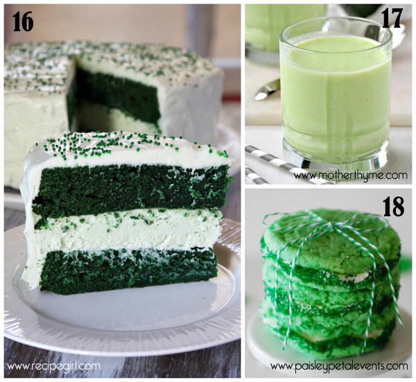 roundup of green treats for St.Paddy's day 6