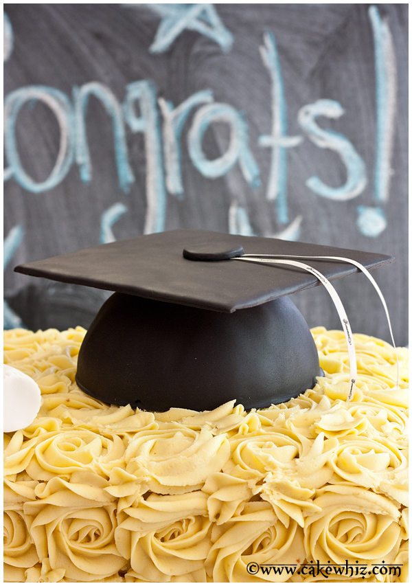 How to make graduation hat cake
