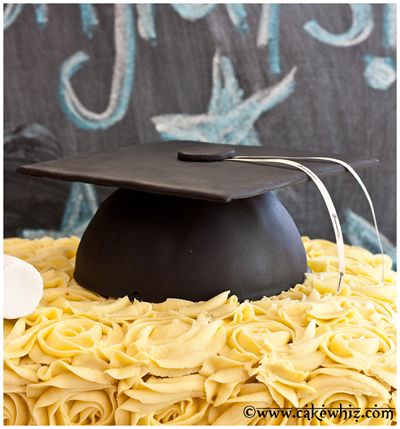 how to make graduation hat cake 16