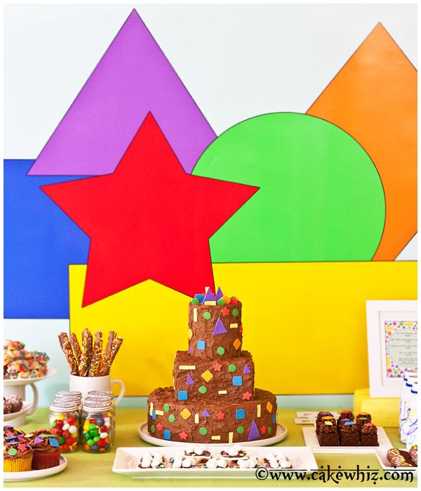 shapes and colors birthday party 3