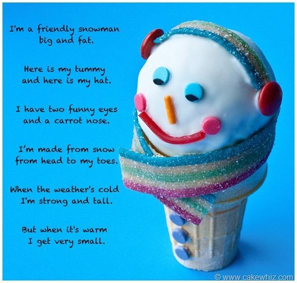 Winter snowman cones 2