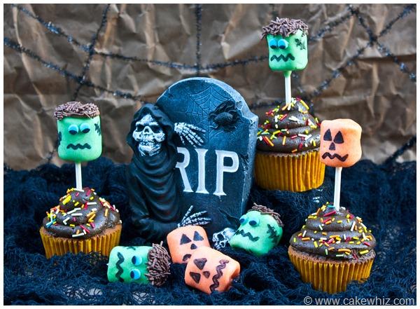 halloween marshmallow pop cupcakes 5