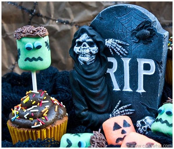 halloween marshmallow pops cupcakes 6