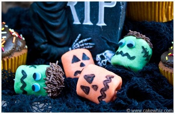 halloween marshmallow pops cupcakes 8