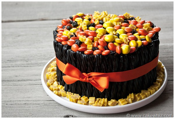 halloween twizzler and candy cake 15
