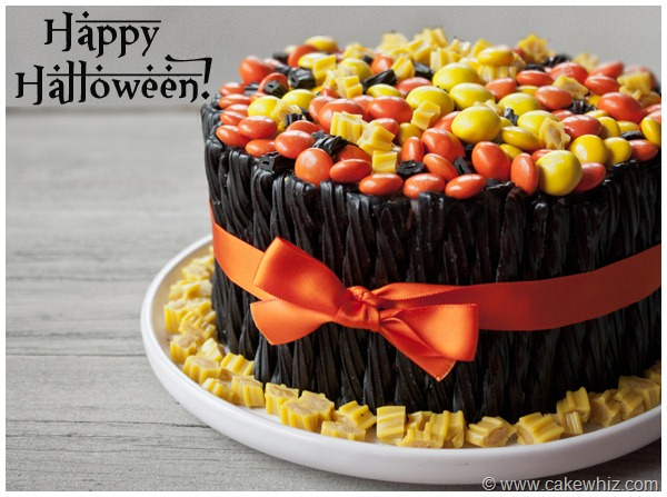 halloween twizzler and candy cake 24
