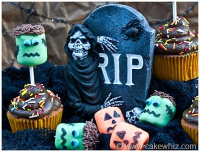 halloween marshmallow pop cupcakes 18