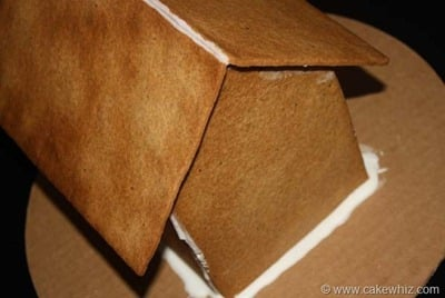 how to assemble a gingerbread house 12