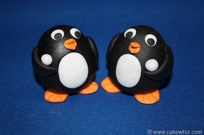 how to make a fondant penguin 21