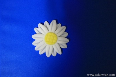 how to make fondant daisies 9