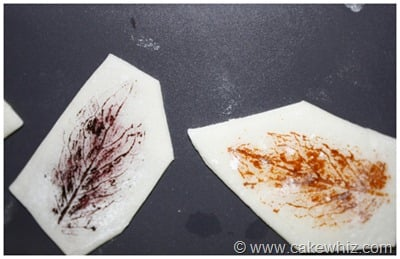 how to make leaf print for a cake 7