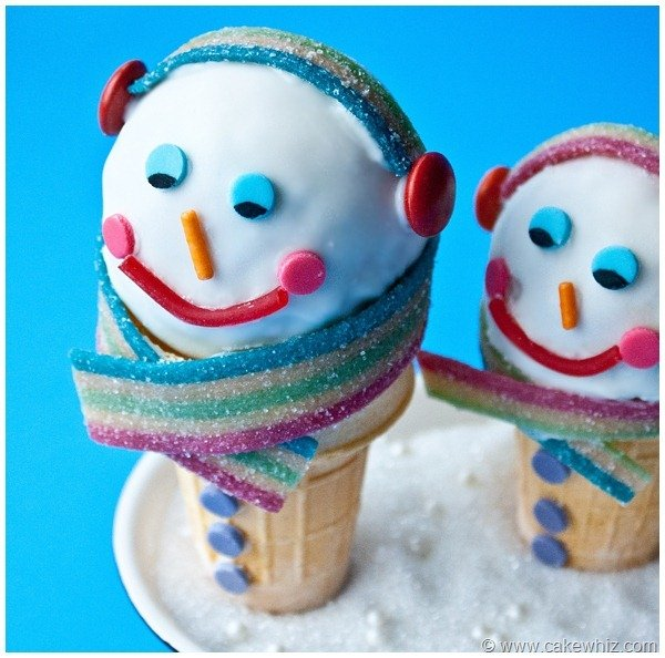 Winter snowman cones 3