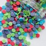 Easy Homemade Sprinkles Spread on White Background