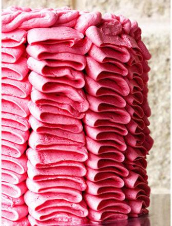 How to Make Ruffle Cake (Pink Ruffle Cake Tutorial)