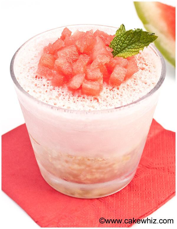 mini watermelon ice cream pie 2