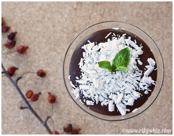 vegan chocolate pudding