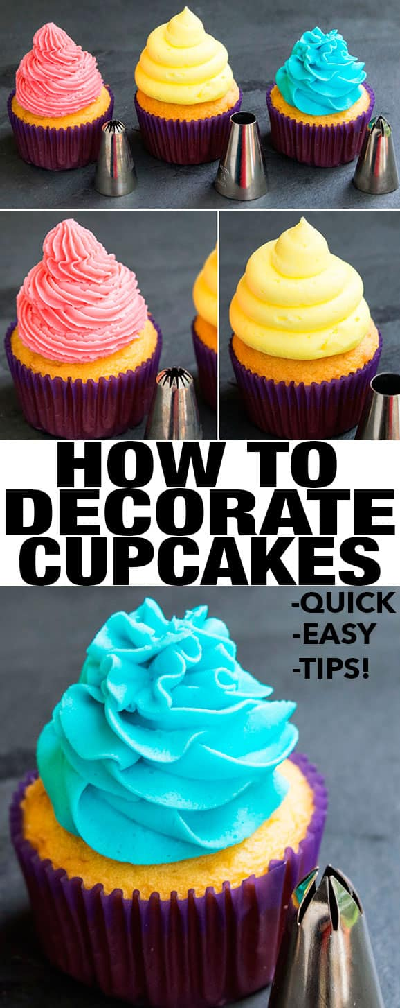 How to Decorate Cupcakes-Video Tutorial