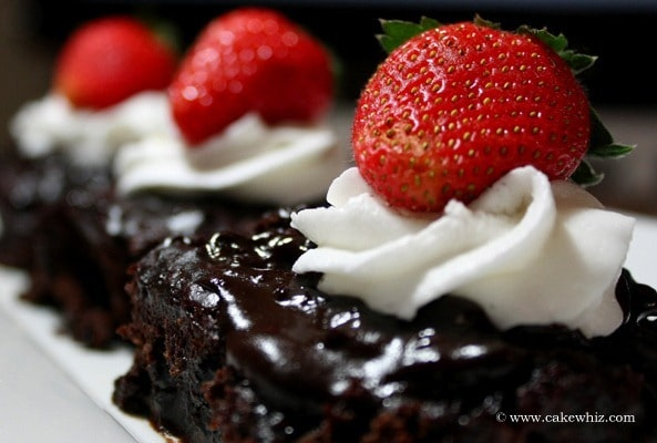 chocolate water cake