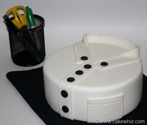 how to make a round shirt cake