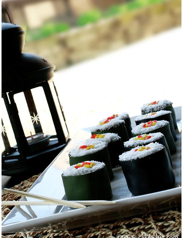 mini sushi cakes