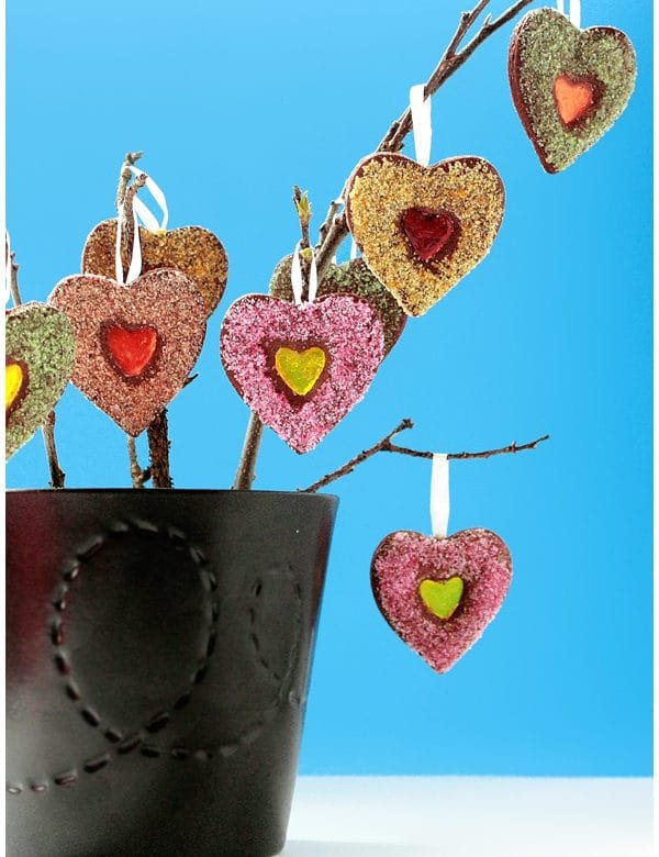 mother's day stained glass cookie tree