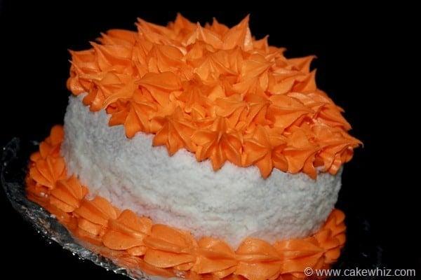 pompom flower cake