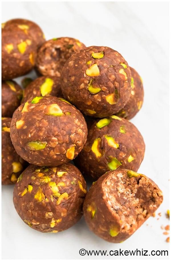 Chocolate Peanut Butter No Bake Energy Balls Recipe (No Bake, Gluten Free, Healthy Snack) 7
