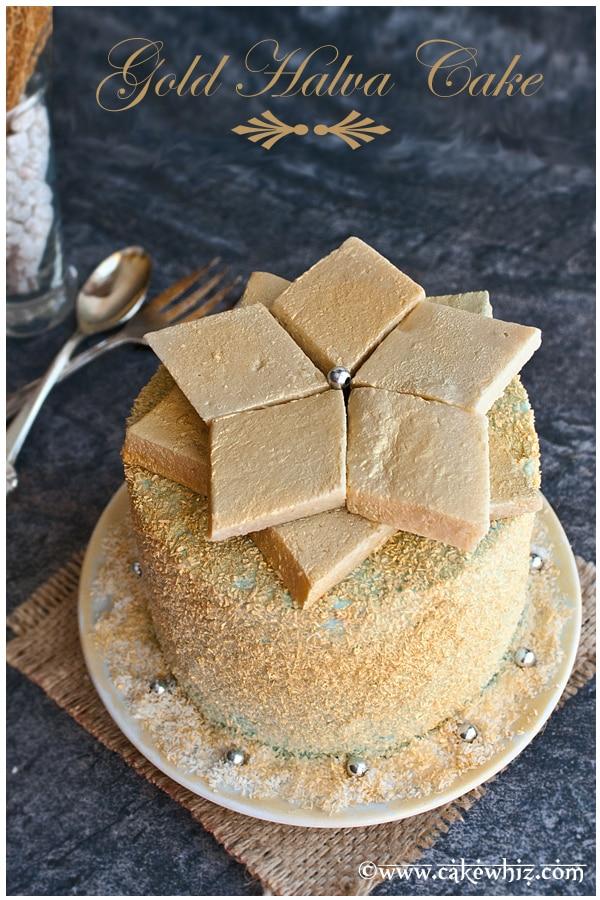 gold halva cake