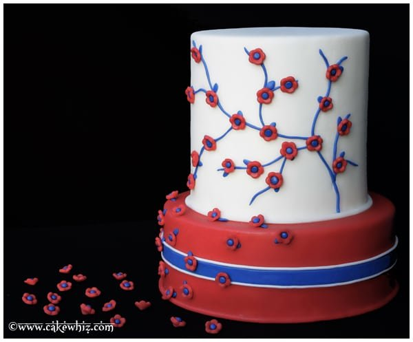 4th of July flower cake