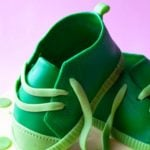 Easy Shoe Cake (Sneaker Cake) on Pink Background