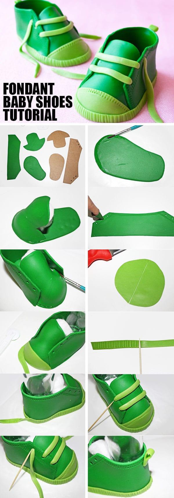 95f43a147e52 How to Make Fondant Baby Shoes - CakeWhiz