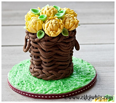 how to make a fondant basket 22