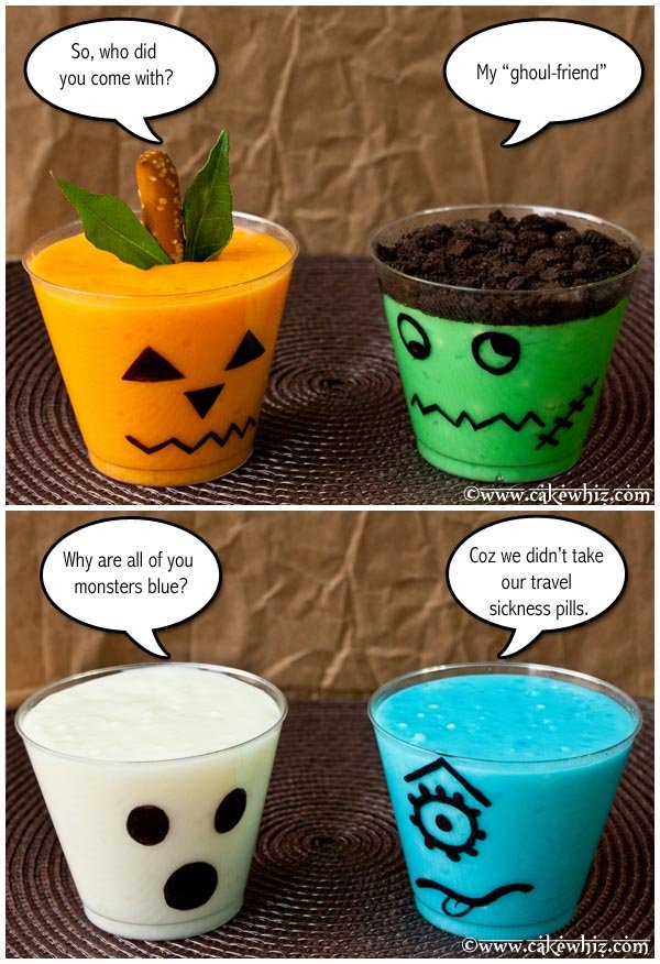 halloween spooky pudding cups 6