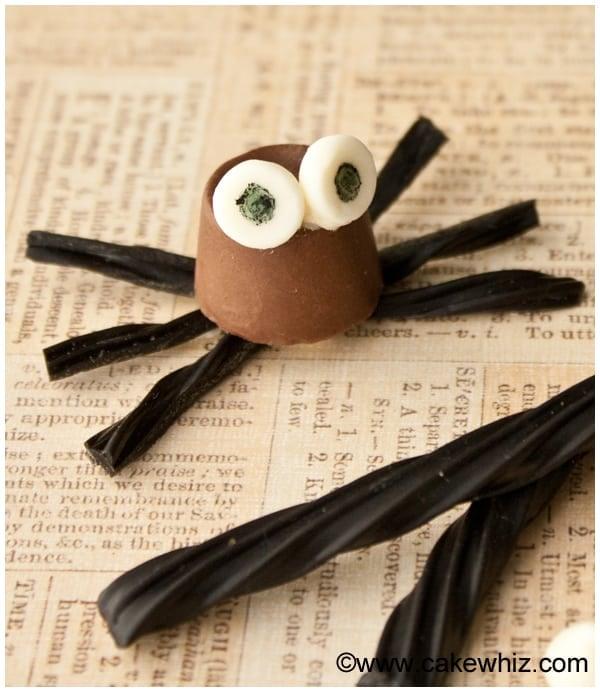 halloween rolo chocolate spiders 2