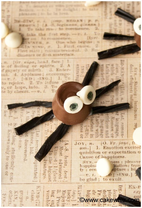 halloween rolo chocolate spiders 4