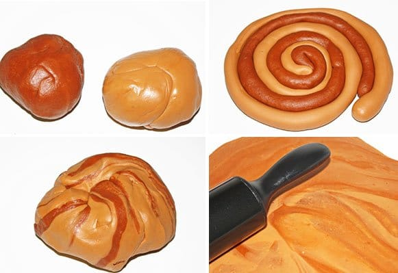 How To Marble Fondant- Step by Step Process Shot