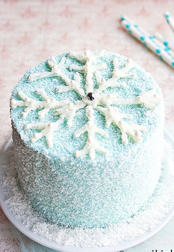 Image result for snowflake cake